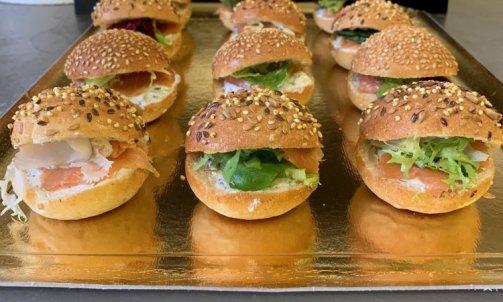 Mini burgers au saumon